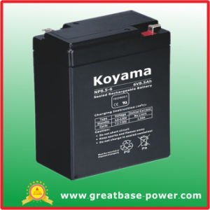 High Quality Lead Acid Storage Lighting Battery 8.5ah 6V pictures & photos