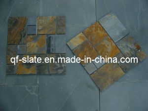 Professional Natural Rusty/Multicolor Slate Stone Mosaic Tile
