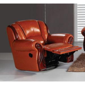 Antique Recliner Sofa with Wood Trim Mz001 pictures & photos