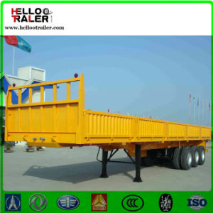 3 Axle 60 Ton 40FT Curtain Side Trailer Sidewall Trailer pictures & photos