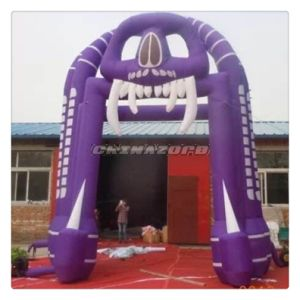 Woo! Higest Emulational Halloween Inflatable Skull Archway