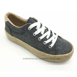 New Arrival Fashion Women Shoes with Jute Sole (ET-FEK170451W) pictures & photos
