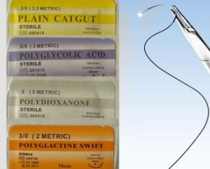 Medical Supply Disposable Surgical Suture Thread with Needles pictures & photos