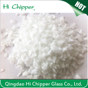 Crushed White Glass Chips pictures & photos
