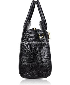 Classic Embossed Crocodile Purse Genuine Leather Office Ladies Handbags Satchel Padlock Tote Bag pictures & photos