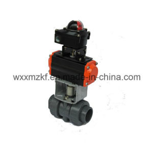 Pneumatic PVC Ball Valve Pneumatic Quarter-Turn Actuator Control pictures & photos