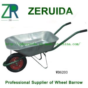 Popular Russian Market Wheelbarrow with Samll Galvnized Tray (WB6203) pictures & photos