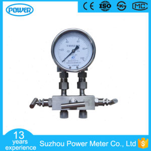 100mm 100kpa Differential Pressure Gauge with Three-Way Manifold pictures & photos