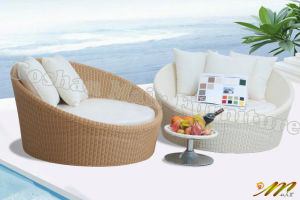 Outdoor Rattan Round Day with Cushion