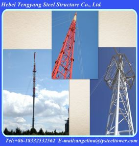 3 Legs Solid Round Steel Communication Guyed Tower pictures & photos