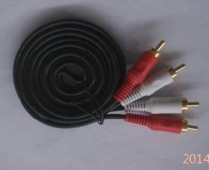 Transparent Jacket 2RCA Audio Cable pictures & photos