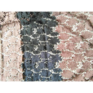 Double Color 100% Polyester Embo Fabric Lace pictures & photos