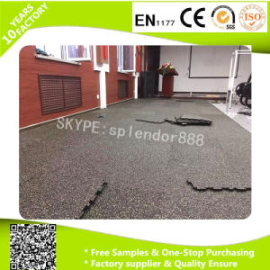 Recycle Rubber Floor Shock Absorbing Gym Rubber Flooring Bricks pictures & photos