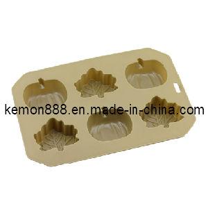 Silicon Muffin Pan, 6 Holes, Pumpkin / Maple (61706)