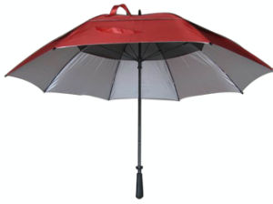 Double Canopy Vent Anti UV Golf Umbrella (GU005) pictures & photos
