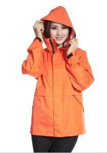 Durable Waterproof PVC Film Ladies Raincoat