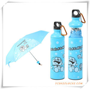Fashion Parasol Section Advertising Bottle Promotion Gift Umbrella pictures & photos