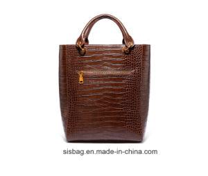Crocodile Grain Handbag High-Capacity PU Tote Bag pictures & photos
