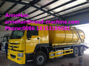 HOWO 10 Cbm Sewage Suction Truck 6X4 for Sanitary Sewer Cleaning pictures & photos