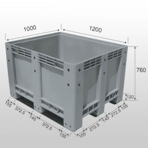 760 Solid Pallet Bin with Lid pictures & photos