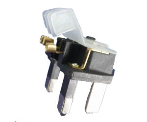 British 3-Pin Plug Insert with Fuse pictures & photos