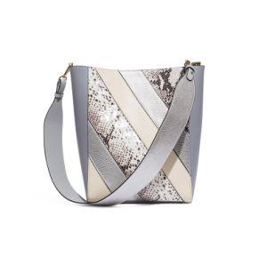 New Fashion Snake PU Ladies Bag Stitching Tote Handbag pictures & photos