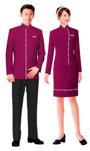 China graceful style hotel uniform hu 04 china hotel for Spa uniform indonesia