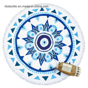 Top Quality Cotton Printing Round Beach Towel pictures & photos