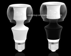 8W E27 360 LED Aluminum Bulb with Glass Cover and Black Lamp Housing pictures & photos