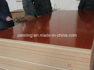 Sapele Color Melamined MDF, Saplele Color Paper Laminated MDF pictures & photos