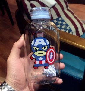 League of Legends Sport Bottle America Popular Carton Pattern Portable Glass Cup pictures & photos