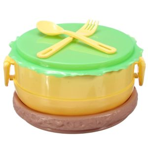 Food Container 3 Layer Hamburger Shape Lunch Box Bento with Fork Spoon Lunch Box Food Container pictures & photos