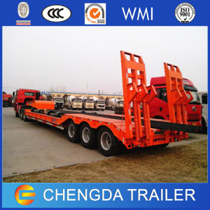 Chinese 3 Axle 60 Ton Low Bed Flatbed Trailer for Sale pictures & photos