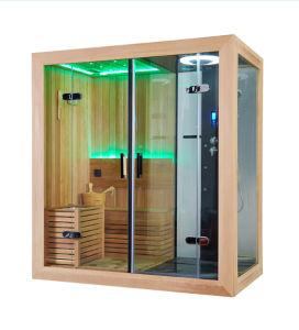 Double-Door Dry&Wet Combination Wooden Sauna Room (M-6035) pictures & photos