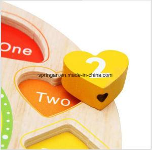 Wooden Intellectual Puzzle Toys Clock 3D pictures & photos