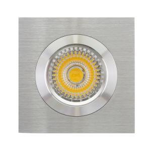 Lathe Aluminum GU10 MR16 Square Fixed Recessed LED Downlight (LT2115) pictures & photos