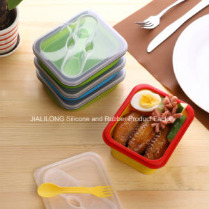 Silicone Collapsible Lunch Box for Kids and Adult