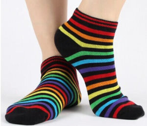 Multiple Stripes Cotton Man Trouser Socks with Custom Logo pictures & photos