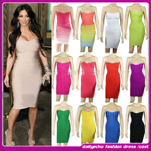 2015 New Arrival Cheap Sexy Mini Strap Club Dress. Bandage Dress (O119))