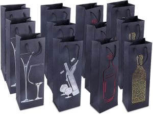 Wine Bottle Gift Bags Paper Wine Gift Bag with Customized Logo and Printing Color Printing Wine Bottle Paper Gift Bag pictures & photos
