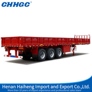Chhgc Tri Axle Compartment Side Wall Cargo Truck Semi Trailer pictures & photos