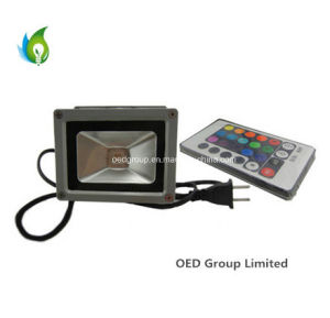 IP65 3 Years Warranty 10W RGB LED Flood Lamp with 85-265VAC pictures & photos