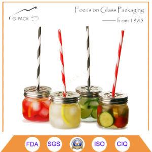 4oz, 8oz, 16oz Glass Mason Drinking Jar with Straw pictures & photos