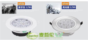 12W White&Silver Round LED Down Light, Down Lamp pictures & photos