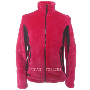 Women Long Sleeve Faux Fur Fake Fur Jacket pictures & photos