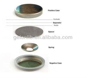 Lithium Battery Materials-- Coin Cell Materials Coin Cell Cases 2032 2016 2025 - Gn-Cr2032-Cases pictures & photos