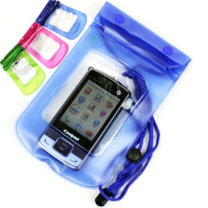 100% Sealed Floatable Mobile Phone PVC Waterproof Dry Case (YKY7202) pictures & photos