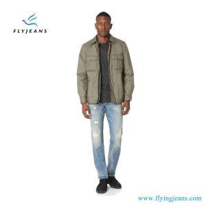 Ep4412 Slim-Straight Light Blue Cotton Denim Men Jeans pictures & photos