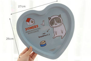 Heart Shape Food Tin Tray pictures & photos