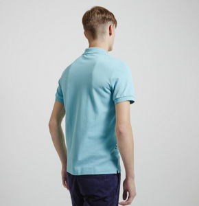 China Factory Top Quality Polo Neck Sky Blue Color Plain Men′s Polo Shirt pictures & photos